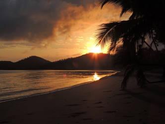 Sunrise over the beach by CactusPhotos
