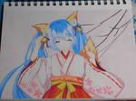 Hatsune Miku, Drawing traditional :3 (Vocaloid)