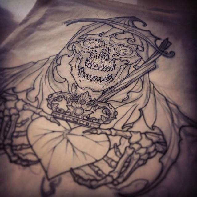 Reaper sketch by Tom Haubrick - Guru Tattoo by Guru-Tattoo on DeviantArt