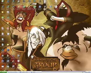 My desktop by AngelGarou