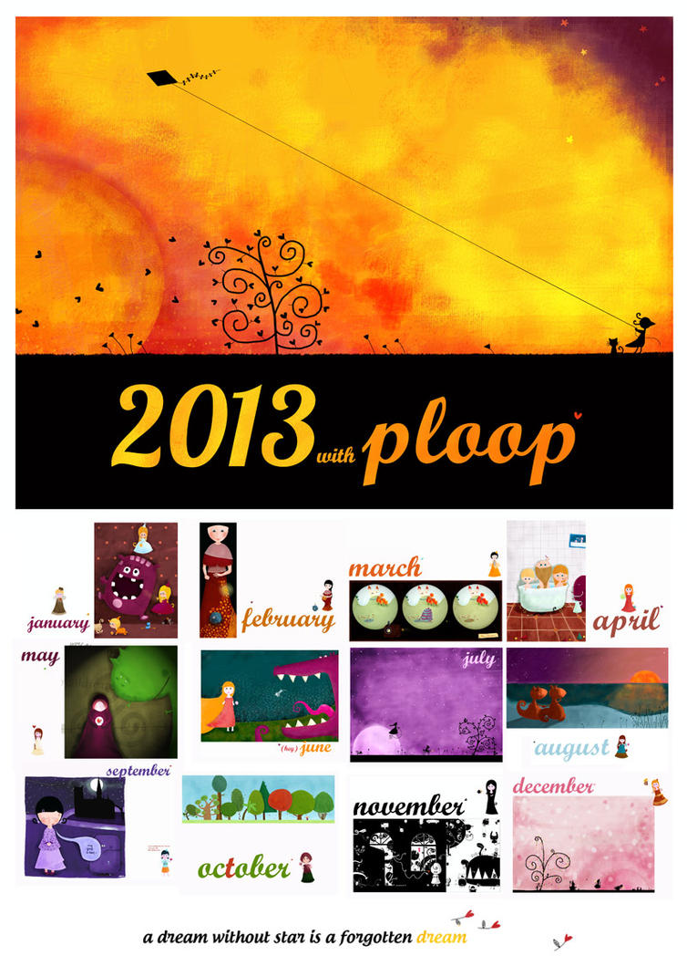 Fairies and monsters, 2013 calendar by nicolas-gouny-art