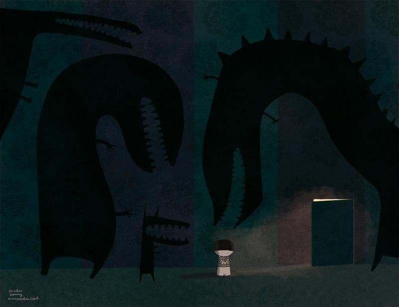 Nobody behind the door by nicolas-gouny-art