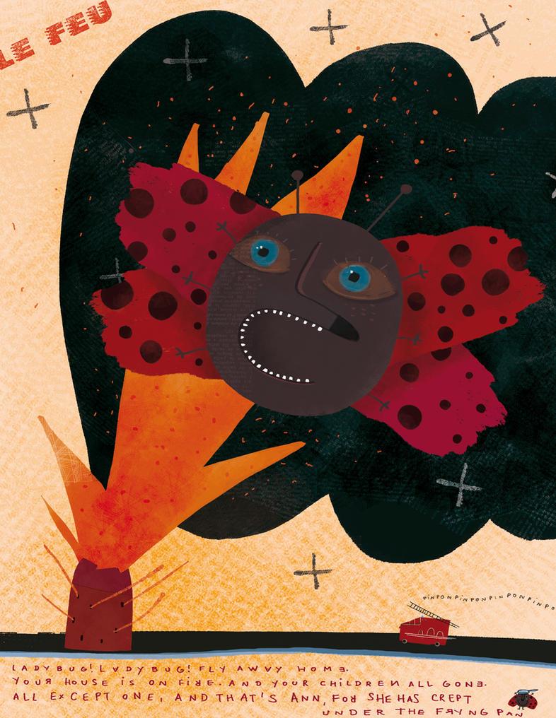 Ladybug, fly away home by nicolas-gouny-art