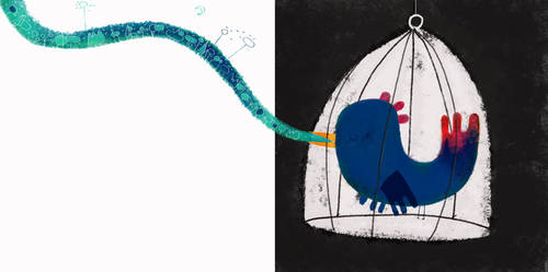 The cage and the bird's song by nicolas-gouny-art