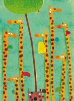 Among the giraffes, so cool by nicolas-gouny-art