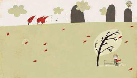 The grey morning tree by nicolas-gouny-art
