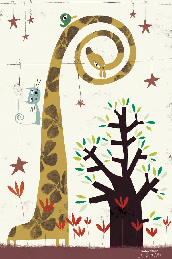 The giraffe by nicolas-gouny-art