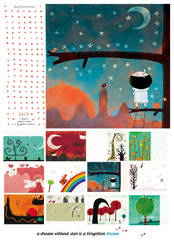 Some stars in the tree, 2013 calendar by nicolas-gouny-art