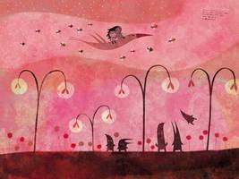 We walk, with the fairies by nicolas-gouny-art