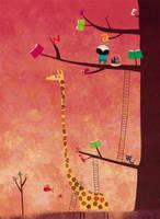 The girafe's helping hand by nicolas-gouny-art