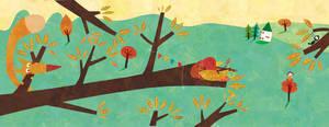 The squirrel the bird the key by nicolas-gouny-art