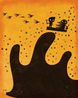 A wave and a door by nicolas-gouny-art