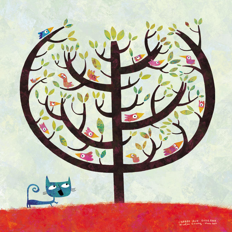 The birds tree by nicolas-gouny-art