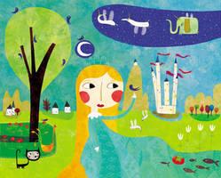 The blue birds princess by nicolas-gouny-art