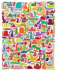 All the dinosaures by nicolas-gouny-art