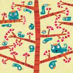 Among birds