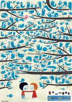 1000 birds by nicolas-gouny-art