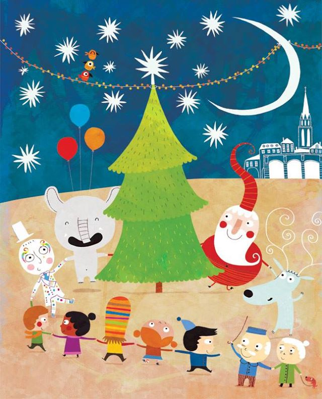 Dancing Samba with Santa Claus by nicolas-gouny-art