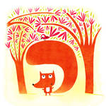 Fox and bird by nicolas-gouny-art