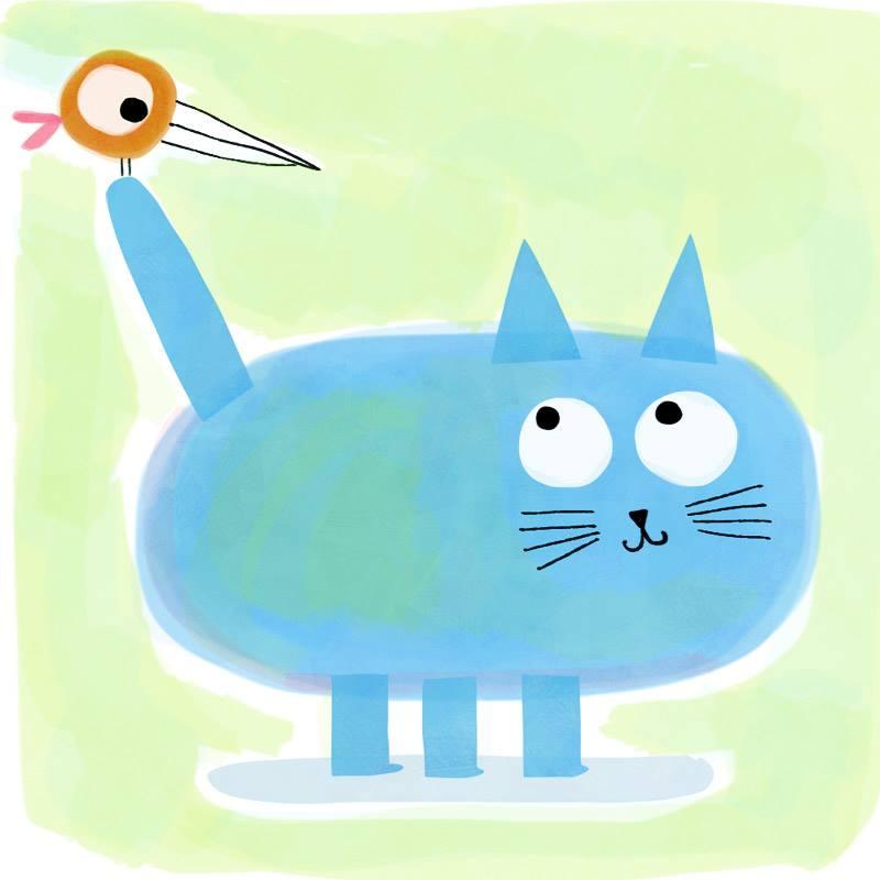 The blue cat by nicolas-gouny-art