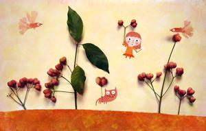 Little fairy of autumn