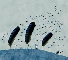 Blue autumn by nicolas-gouny-art