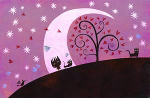 Under the purple moon by nicolas-gouny-art