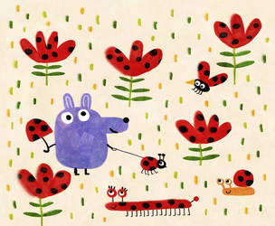 Ladybugs everywhere! by nicolas-gouny-art