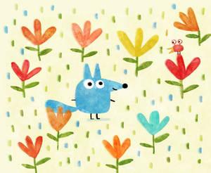 Little blue wolf