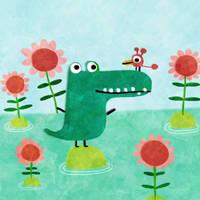 An each isle a crocodile by nicolas-gouny-art