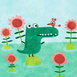 An each isle a crocodile