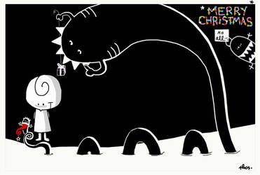 Alone with Christmas Nessie by nicolas-gouny-art
