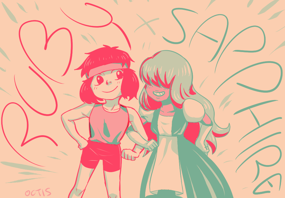 Ruby x Sapphire from Steven Universe! fav.me/d7mgv9t<-used this pallet challenge's #14!