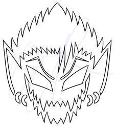 Jack-O-Lantern Template: Hiruma by Satin-Bowerbird