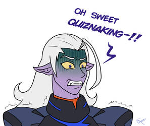 Disgusted Lotor by Satin-Bowerbird