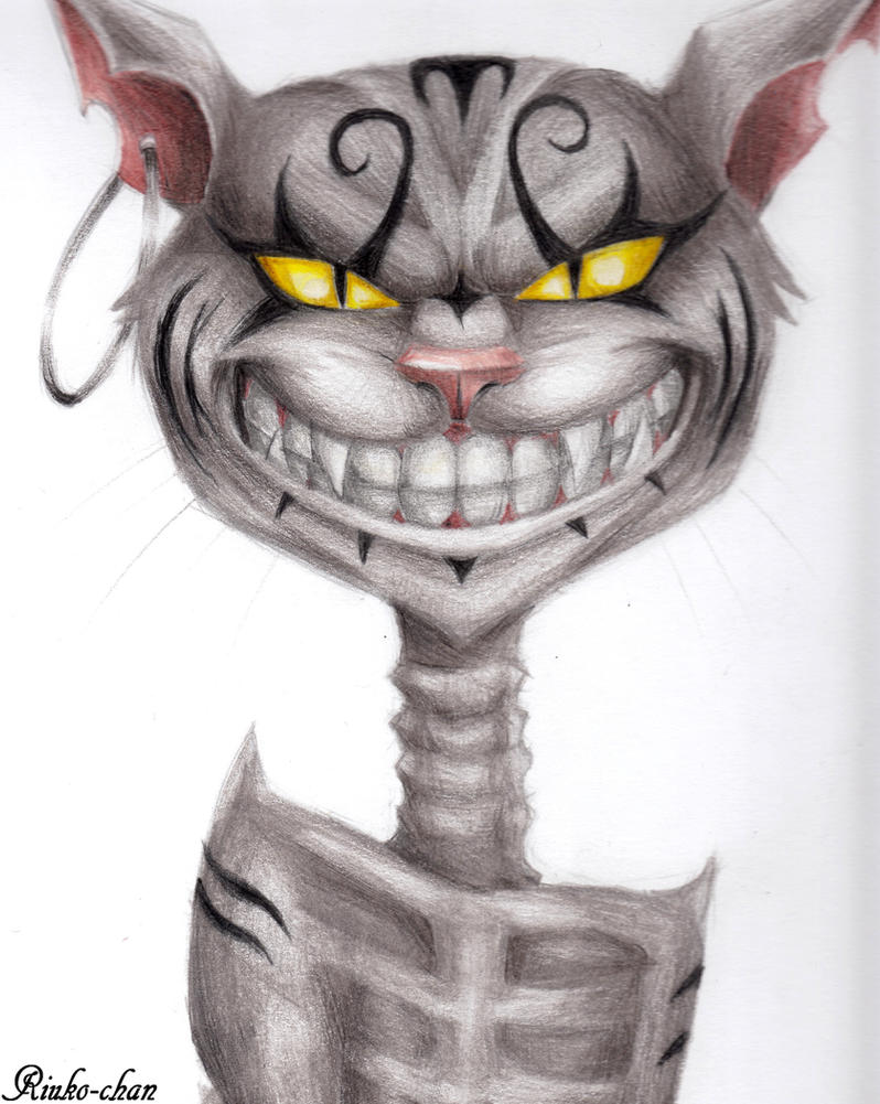Draw Cheshire Cat Alice