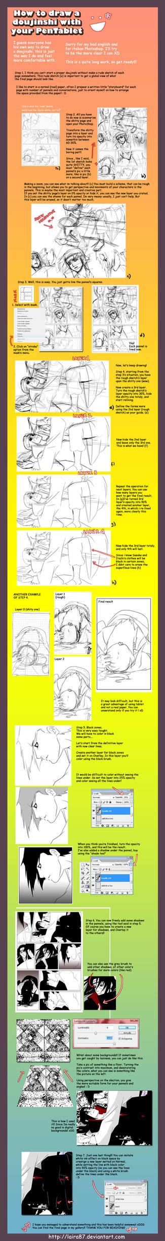 How to draw a doujinshi?