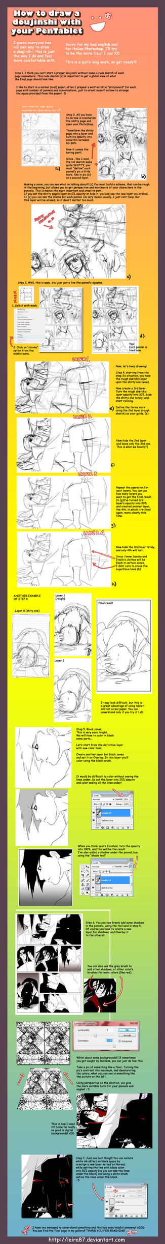 How to draw a doujinshi? by Lairam