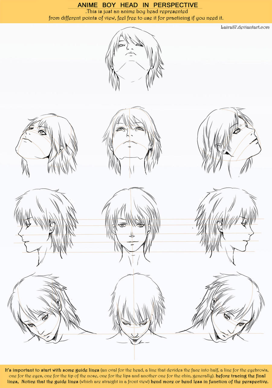 Anime Head Angles Perspective By Lairam · Tutorial