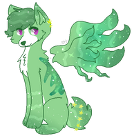OTA:Green Albino Galaxy Nebula .:CLOSED:. by SuirenHime