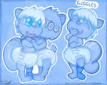Ozzie Hugs and Giggles Stickers by OzzieAstaroth