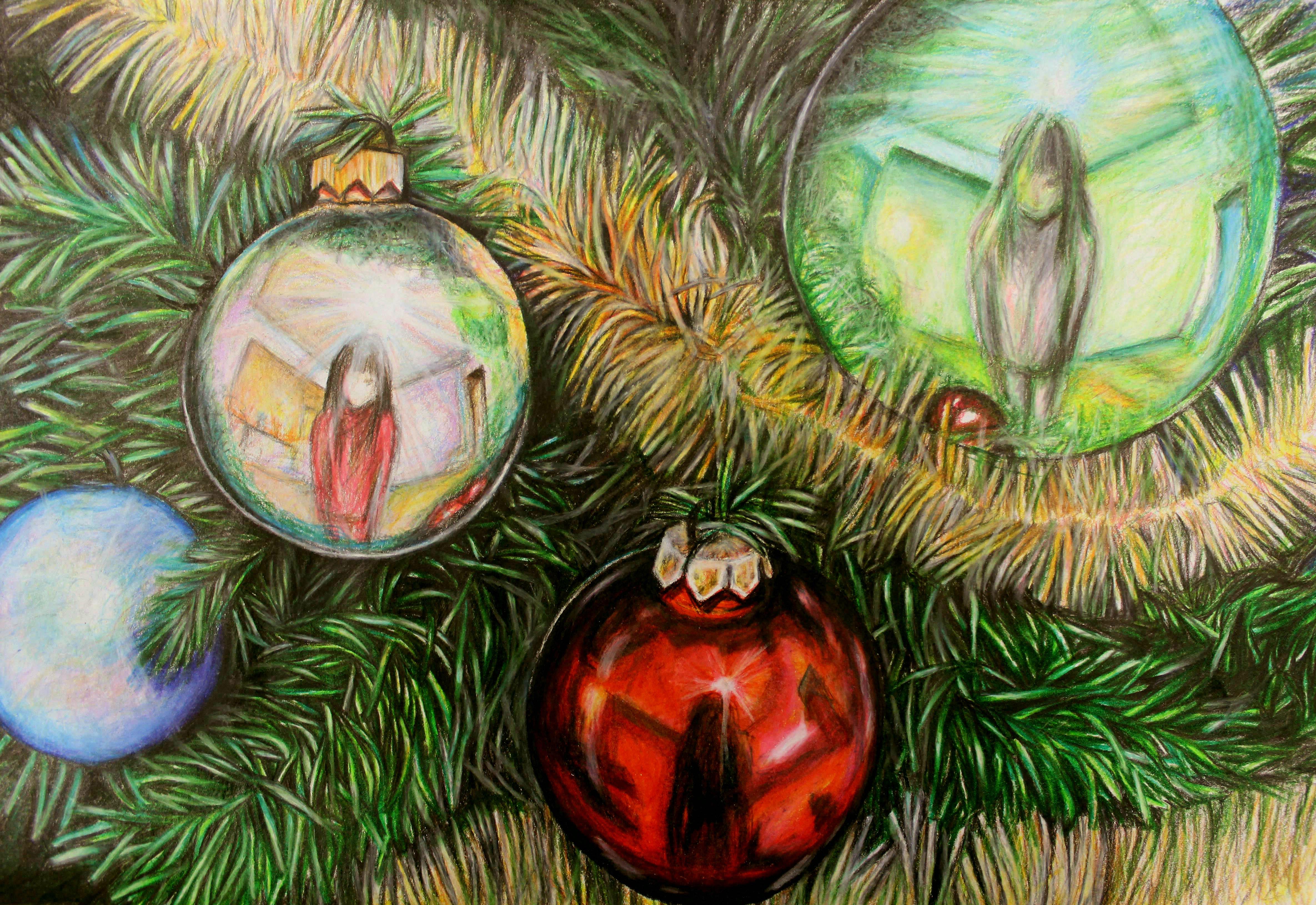 Christmas tree reflection by nganguyen on deviantart