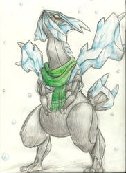 Kyurem watches the snow fall