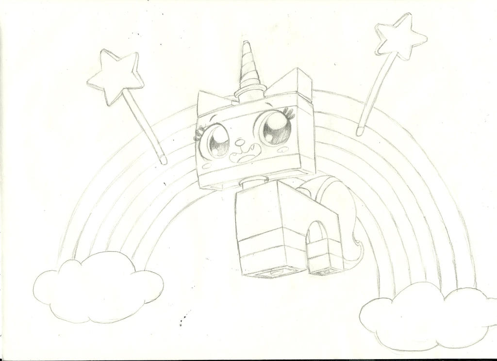 Princess Unikitty Coloring Pages : How to draw princess unikitty from the lego movie