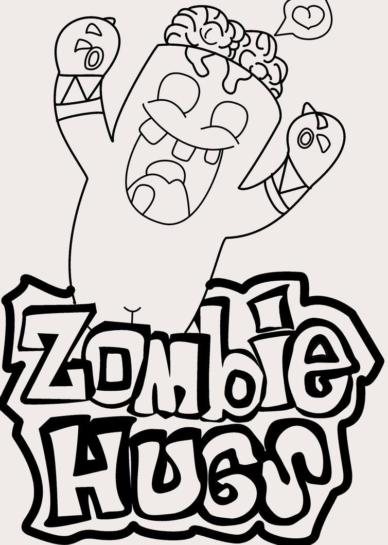 One Line Text Art Hug : Zombie hug lineart by gabbyzamora on deviantart