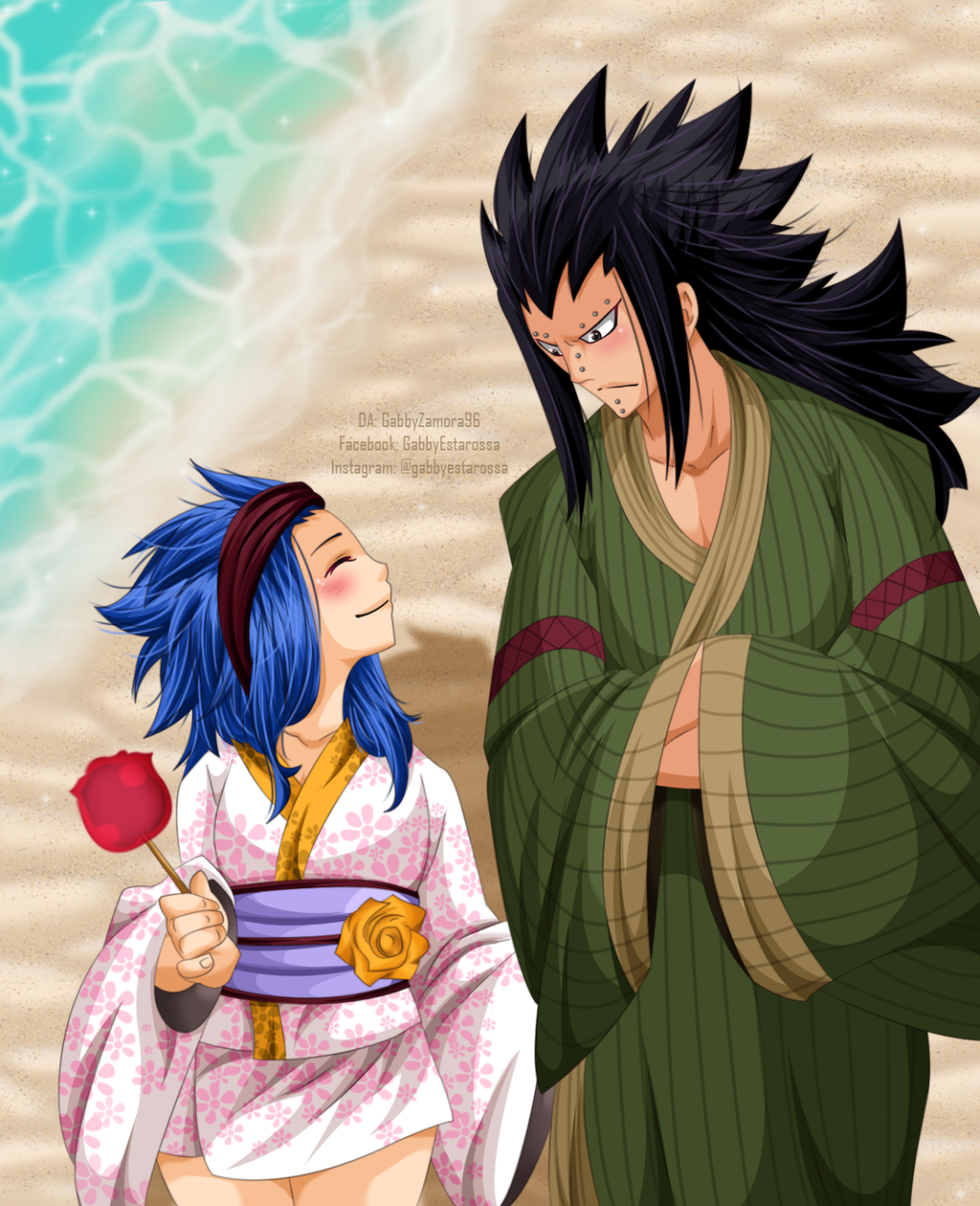 Gajeel And Levy By GabbyZamora96 On DeviantArt