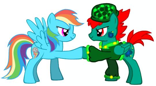 Tjetta Bomb and RainbowDash Hoof by sixteen6stars
