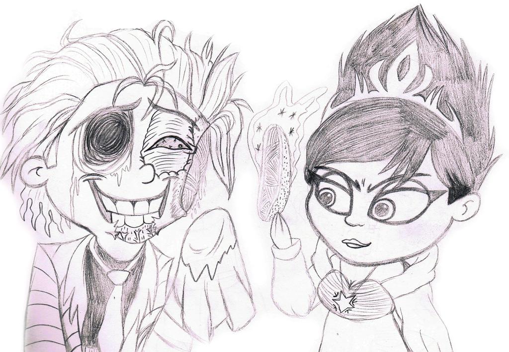 un undead fred meets evil Elsa by sixteen6stars