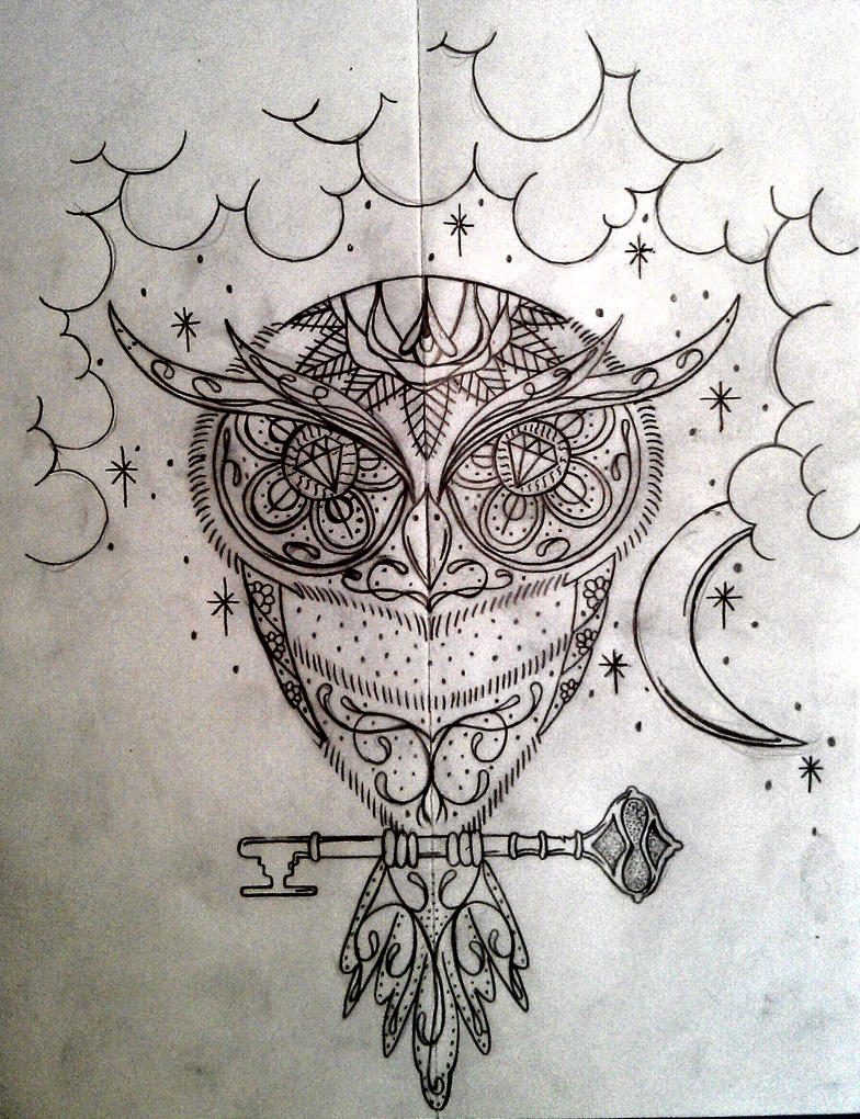 Sugar Owl Tattoo Design Picture 1