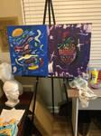 Borgur and scrawburry paintings  by bleedingreignbow
